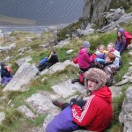 Mr Alderson's group on the north ridge of Tryfan
