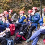 """The """"A"""" Team at the Afon Ddu Gorge"""