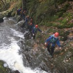 "The ""A"" Team at the Afon Ddu Gorge"