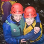 Lauren and Lucy at the Afon Ddu Gorge