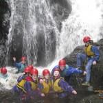 """The """"A"""" Team enjoying the Afon Ddu Gorge"""