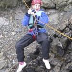 Lauren enjoying the sea level traverse